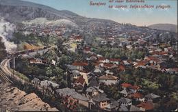 CPA CP Bosnie Herzégovine Sarajevo Mit Neuer Bahnstrecke Sa Novom Zeljeznickom Prugom Train YT 67 CAD Sarajevo - Bosnie-Herzegovine