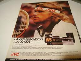 ANCIENNE PUBLICITE LA COMBINAISON GAGNANTE JVC ET BJORN BORG 1980 - Musique & Instruments