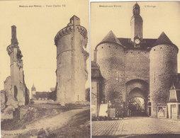 MEHUN SUR YEVRE :2 CPA DE 1933.L HORLOGE ET LES TOURS CHARLES VII.T.B.ETAT.PETIT PRIX.COMPAREZ!!! - Mehun-sur-Yèvre