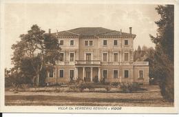 GISCA017 - VIDOR - TREVISO - VILLA  Co. VERGERIO REGHINI - F.P. NON VIAGGIATA - Treviso