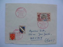 Enveloppe Premier Jour  Cachet     1953  Paris  Cinquantenaire Du Tour De France Cycliste - 1950-1959
