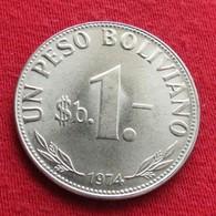 Bolivia 1 Boliviano 1974 KM# 192  Bolivie - Bolivia