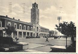 LT046 -LITTORIA (LATINA) - LA TORRE DEL PALAZZO COMUNALE - F.G. VIAGGIATA  1936 - AUTO D'EPOCA - Latina