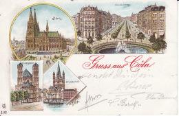 2638201Gruss Aus Köln 1901(siehe Kanten) - Koeln