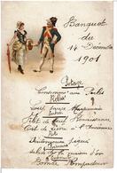 LOMBEZ  ( 32 ) -  MENU - BANQUET Du 14 Décembre 1901  -  HÔTEL IDRAC  à  Lombez - Menu