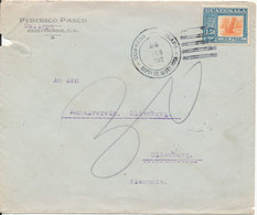 Guatemala (underpaid ??) Cover Sent To Germany 24-2-1922 Single Franked (cover Damaged In The Left Side) - Guatemala