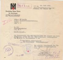 Bon De Réquisition  Croix-Rouge Allemande (pliée En Trois) - WW II
