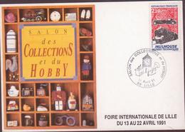 CARTE TIMBRE  1991  SALON DES COLLECTIONS ET DU HOBBY LILLE VOIR PHOTO - Marcophilie (Lettres)