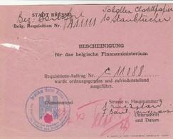 Bon De Réquisitin  Croix-Rouge Allemande  (déchirure En Haut à Gauche) - WW II
