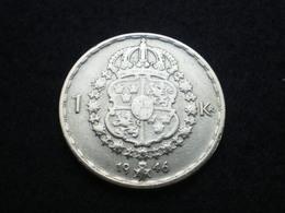 1 KRONA ARGENT SUEDE GUSTAVE V 1946  ( Lot Plbl1/18 ) - Suède