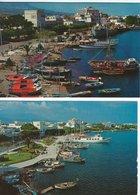 The Port.  Cos Greece. 2 Cards. # 07948 - Greece