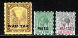 Bahamas 1918 Yvert 60 - 62 - 64 ** B - Bahamas (...-1973)