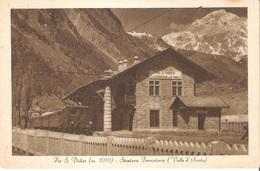 PRE' S. DIDIER (AOSTA) - STAZIONE FERROVIARIA. TRENO IN PRIMO PIANO - Aosta