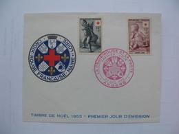 Enveloppe   1955   La Croix Rouge   Maine Et Loire Angers - Postmark Collection (Covers)