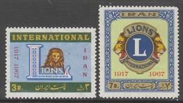 PAIRE NEUVE D'IRAN - CINQUANTENAIRE DU LIONS INTERNATIONAL N° Y&T 1219/1220 - Rotary, Lions Club