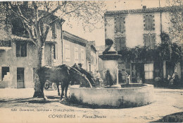 04 // CORBIERES    Place Neuve,   Edit Dominici / Cachet Indice V, Au Verso - Otros Municipios