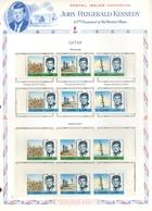 QATAR - PRESIDENT AMERICAIN JOHN KENNEDY - TROISIEME ANNIVERSAIRE DE LA MORT - 1966 - 2 Séries NEUVES DENTELEES & NON DE - Qatar
