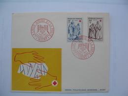 Enveloppe   1957    La Croix Rouge   Niort - Marcophilie (Lettres)