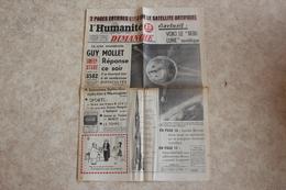 L'HUMANITE DIMANCHE --du 06 Octobre 1957 Uniquement La Page De Couverture - Journaux - Quotidiens