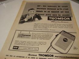 ANCIENNE PUBLICITE  RASOIR MICROTOMIC THOMSON   1955 - Pubblicitari