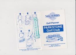 Vieux Papier : Golf  Planner , Salterns  Hotel ,  Liliput , Poole , Dorset - Non Classés