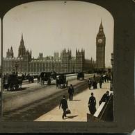 13258 - 1901 WESTMINSTER BRIDGE AND HOUSES PARLIAMENT, LONDON Photo Stéreoscopique Bromure -  Royaume Uni -1901 - Fotos Estereoscópicas
