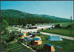Diekirch  Le Camping, Au Fond Les Hauteurs Du Herrenberg , Carte Semi-moderne (2scans) - Diekirch