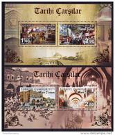 TURKEY, 2016, MNH, HISTORIC BAZAARS, 2 SHEETLETS - Stamps