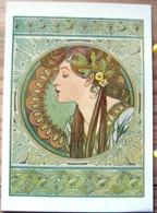 ALPHONSE MUCHA LE LAURIER   PIN UP FEMME DEMI NUE ART NOUVEAU 1901 SCAN R/V - Mucha, Alphonse