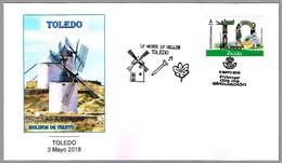 12 MESES - 12 SELLOS - TOLEDO - MOLINOS DE VIENTO - WINDMILLS. SPD/FDC Toledo 2018 - Molinos
