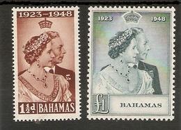 BAHAMAS 1948 SILVER WEDDING SET UNMOUNTED MINT Cat £45+ - Bahamas (...-1973)