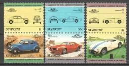 St Vincent 1985 Mi 798-803 MNH CLASSIC CARS - Cars