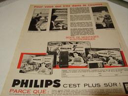 ANCIENNE PUBLICITE JEU BOITE DE MONTAGE   PHILIPS 1965 - Autres Collections