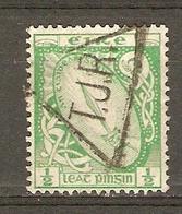 Irlande - Marcophilie, Triangle Cancellation Postmark T.J.R. Sur 1/2p. - YT 40 Ou 78 - Cachet Triangulaire Rare - 1922-37 État Libre D'Irlande