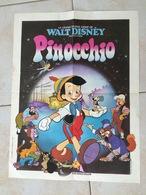Petite Affiche  52 X 39 Cm Walt Disney  Pinocchio  ( Technicolor  ) état Moyen - Posters