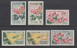 Gabon 1961. Flowers 6v . MNH. ** - Gabun (1960-...)