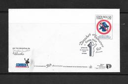 OO) 1998 COSTA RICA, HUMAN RIGHTS, CHILDREN AND ADOLE) 1998 COSTA RICA, HUMAN RIGHTS, CHILDREN AND ADOLESCENTS. FDC XF - Costa Rica