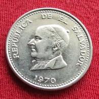 El Salvador 25 Centavos 1970 KM# 139 - El Salvador