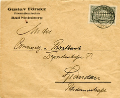 (Lo2383) Brief DR St. Bad Meinberg N. Spandau - Covers