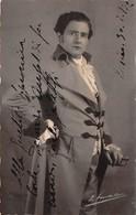 """0266 """"CARLO GALEPPI - MALAMOCCO 1884/ROMA 1961 - BARITONO"""" AUTOGRAFO TORINO 1902. CART NON SPED - Artistes"""