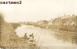 CARTE PHOTO : DAMVIX PORT PECHEUR CANAL MARAIS POITEVIN 85 VENDEE - France