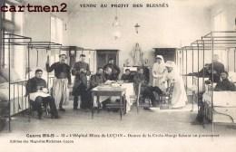 LUCON COLLEGE RICHELIEU HOPITAL MILITAIRE N°46 CROIX-ROUGE INFIRMIERES GUERRE SOLDATS 85 VENDEE - Lucon