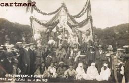 CARTE PHOTO : FONTENAY-LE-COMTE FETE DES FLEURS 2 JUIN 1907 85 VENDEE - Fontenay Le Comte