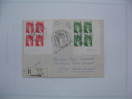Enveloppe   Avec Coins  Datés  Bloc De 4    N°1970 Et 1972   De 1977 - Coins Datés