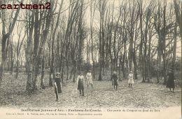 FONTENAY-LE-COMTE INSTITUTION JEANNE-D'ARC PARTIE DE CROQUET 85 VENDEE - Fontenay Le Comte