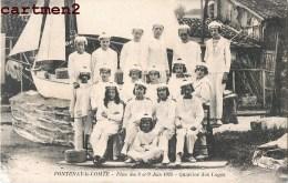 RARE CARTE PHOTO : FONTENAY-LE-COMTE FETES DES 8 ET 9 JUIN 1924 QUARTIER DES LOGES MARINS MATELOTS 85 VENDEE - Fontenay Le Comte