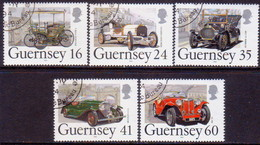 GUERNSEY 1994 SG 639-43 Compl.set Used Centenary Of First Car In Guernsey - Guernsey