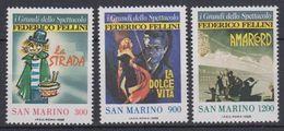 San Marino 1988 Frederico Fellini/European Cinema 3v  ** Mnh (40206B) - San Marino