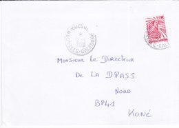 Nouvelle Calédonie, Lettre De OUEGOA, 2001 ( NC13) - Briefe U. Dokumente