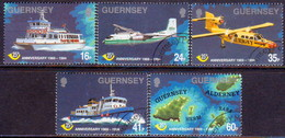 GUERNSEY 1994 SG 645-50 Compl.set+m/s Used 25th Anniv Of Guernsey Postal Administration - Guernsey